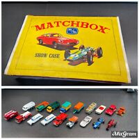 Vintage Lesney Matchbox Show Case Carrying Case with 18 Vehicles Toys