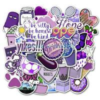 50Pc Purple Graffiti Waterproof Wall Sticker Laptop Trolley Case Toy DIY Sticker