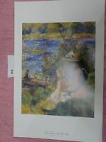 Young Women at the Water's Edge Vintage, Pierre-Auguste Renoir Artwork Reproduct