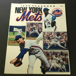 VTG New York Mets Official Yearbook 1990 - Dwight Gooden / Sid Fernandez