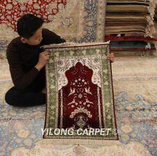 YILONG 2'x3' Red Handmade Silk Persian Rug Classic Prayer Handcraft Carpet 284B