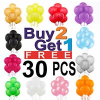 30 X Large PLAIN BALOONS helium BALLOONS Quality Party Birthday FATHERS DAY