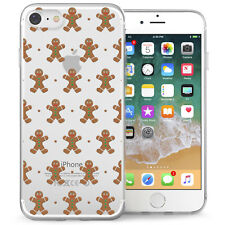 Apple iPhone 7 Case Christmas Gingerbread Men Best Protective Silicone GEL Cover