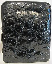 Hello Kitty Black Patent Embossed IPAD Case Sleeve Cover Zippered Compare $49.99