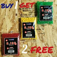 1000 pcs 0.12 Gram 6 mm Airsoft Gun Bullets BB's Pellets Ammo Buy 1 Get 2 Free