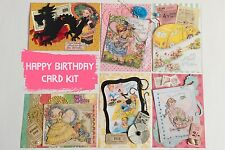 Happy Birthday Vintage Greeting Card KIT 6 cards