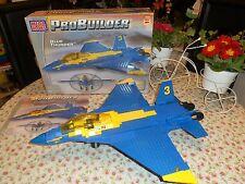 RARE BUILT MEGA BLOKS PRO-BUILDER BATTLE SERIES - BLUE THUNDER. 330 PCS, 9781