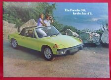 1973  Porsche 914 914S Original Car Sales Brochure 12 Pages 10x14""