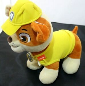 BUILD A BEAR NICKELODEON PAW PATROL RUBBLE BULLDOG CONSTRUCTION PUP WITH OUTFIT