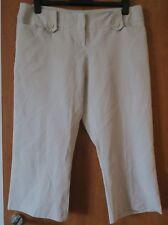 ATMOSPHERE Crop Trousers Beige Size UK 16 EU 44