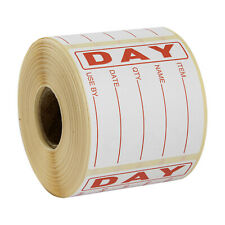 More details for food hygiene day dot food label best before labels roll of 500 labels red