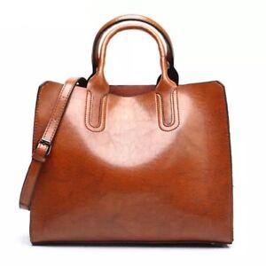 Ladies Oil Wax Tote Bag