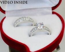 Platinum Solitaire with Accents Diamond Engagement Rings