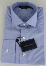 Polo Ralph Lauren Dress Shirt Mens 16 40 41 Regent Fit Blue MSRP $125