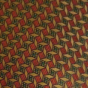 Vintage Brown Green Foulard MOLTENI Silk Tie