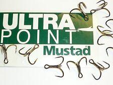 100 Mustad KVD-Elite Triple-Grip 1X Treble Hooks (Size 4) TG76NP-BN UltraPoint