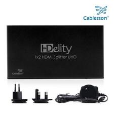 HDMI 2.0 Splitter HDelity 1x2 with EDID (18G) - Active amplifier 4k2k Cablesson