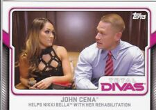 2017 TOPPS WWE NIKKI BELLA JOHN CENA INSERT WRESTLING CARD #13