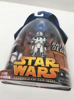 Star Wars Revenge of the Sith Clone Commander (green trim) - Battle Gear MOC
