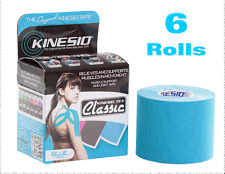 KINESIO Tape CLASSIC 6 (SIX) Rolls 4m x 5cm BLUE - Kinesiology Injuries Support
