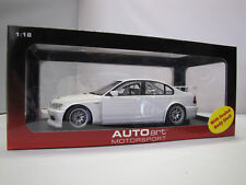 80548 AUTOART BMW 320i WTCC Plain Body Version (White) - 1:18