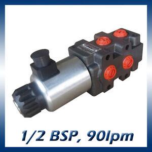 6 Port Hydraulic Diverter / Selector Valve 1/2 Ports, 90l/min, 280bar 12v or 24v