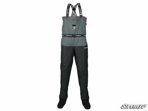 SuperATV Gray Wademan Waterproof Waders / Riding Suit for UTV / ATV - Size LARGE