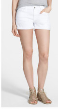 NWT$138 Authentic 7 For All Mankind Cuffed Denim Shorts CLEAN WHITE select sizes
