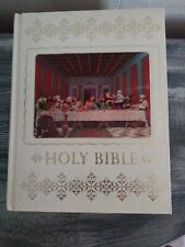 Vintage 1976 Holy Bible Home Health Education Services King James Version