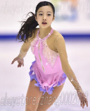 Ice skating dress.Pink Competition Figure Skating / Baton Twirling custom