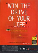 """Vodafone """"Win The Drive Of Your Life"""" 1998 Mag. Advert #3529"""