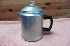 Vtg Aluminum Espresso Coffee Pot Premier Percolator makes 3-6 cups