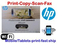 NEW HP OfficeJet 5255(4655) All In One Printer-scan-copy-Fax-Wireless+With INK