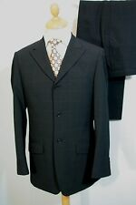 38 REG W34 L32 MENS RIVER ISLAND BLACK CHECK SINGLE BREASTED SUIT