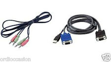 """NEW - Avocent CBL0042 rev.A USB KVM cable with audio 4' (48"""")"""