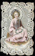 ANTIQUE LACE HOLY CARD OF JESUS CHRIST BOUASSE LEBEL PICTURE