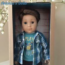 American Girl LOGAN EVERETT DOLL FIRST BOY DOLL NEW TENNEY GRANT BAND MATE