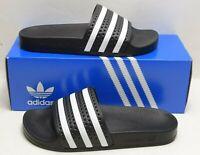 adidas Originals Men's Adilette Slide Sandal Black White 280647 Size 13 M US