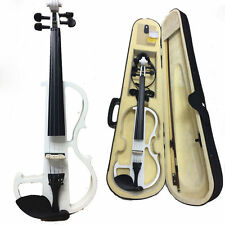 Electric Violin 4/4 Electric Violin +Bow +Case+Rosin+Bridge+Cable-White