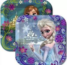 16ct Disney's FROZEN Ana & Elsa Square Dessert Plates Party Supplies Decorations