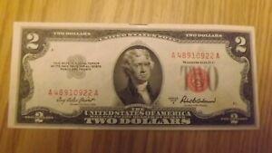 US Currency 1953A 2 dollar bill