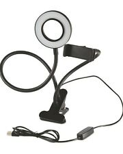 PHONE HOLDER/SELFIE STAND 24 LED RING LIGHT/360 CLIP/FLEXIBILE YOU TUBE/TIK TOK