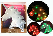 Unicorn Colour Change LED LIGHT Lamp Decorative Bedroom New Primark
