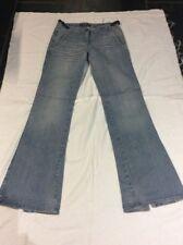GAS Distressed Blue Flared Hem Jeans W27 L34