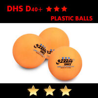50 pcs DHS D40+ 3Star Table Tennis Plastic Ping Pong Balls Color Orange