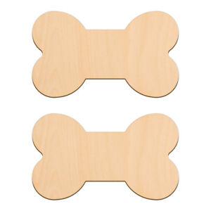 LARGE DOG BONE Shape Craft Blanks 15x8.8cm BIRCH Wood Decorations Puppy Tags