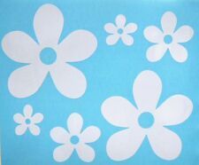 Set of Six Flowers Girly Car Truck Window Vinyl Decal Stickers CHOOSE 12 COLORS!