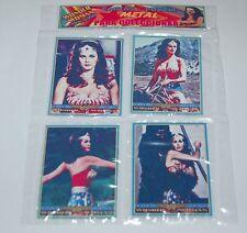 WONDER WOMAN LINDA CARTER TV SET 4 METAL CARD w/PUZZLE COLLECTIBLE ARGENTINA