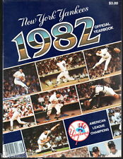 New York Yankees Yearbook 1982 Bob Lemon Dave Winfield Tommy John Ken Griffey