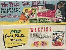 WEETIES AUSTRALIA CEREAL GIVEAWAY PROMO ENID BLYTON TRAIN THAT WENT TO FAIRYLAND